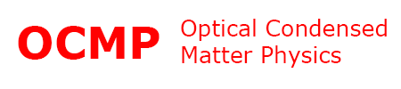 Optical Condensed Matter Physics